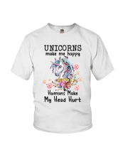 Unicorns Make Me Happy  Youth T-Shirt thumbnail