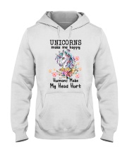 Unicorns Make Me Happy  Hooded Sweatshirt thumbnail