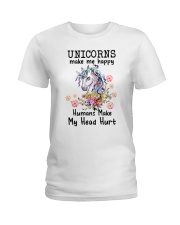 Unicorns Make Me Happy  Ladies T-Shirt thumbnail