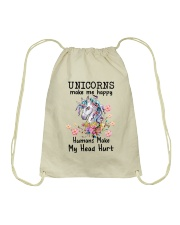 Unicorns Make Me Happy  Drawstring Bag thumbnail