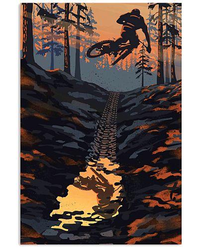 Mountain Biking Retro Poster