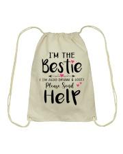 Wine Bestie Drawstring Bag thumbnail