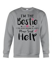 Wine Bestie Crewneck Sweatshirt thumbnail