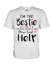 Wine Bestie V-Neck T-Shirt thumbnail