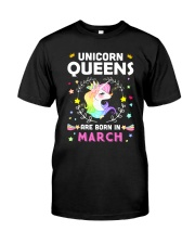 Unicorn Queens Are Born In March Classic T-Shirt thumbnail