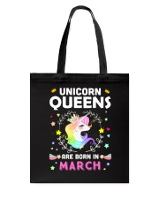 Unicorn Queens Are Born In March Tote Bag thumbnail