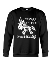 Unicorn-  Bew are of the zombiecorn Crewneck Sweatshirt thumbnail