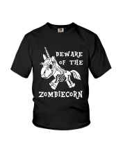 Unicorn-  Bew are of the zombiecorn Youth T-Shirt tile