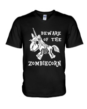 Unicorn-  Bew are of the zombiecorn V-Neck T-Shirt thumbnail