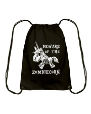 Unicorn-  Bew are of the zombiecorn Drawstring Bag tile