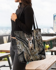 DEER HUNTING CAMOUFLAGE BEAUTY TOTE BAG All-over Tote aos-all-over-tote-lifestyle-front-04