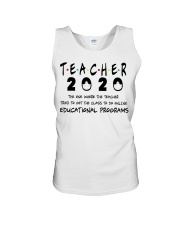Teacher The One Unisex Tank tile