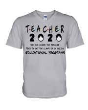 Teacher The One V-Neck T-Shirt tile