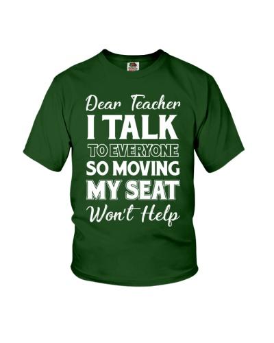 Dear teacher- I talk