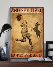 Pit Bull Gray And She Lived Happily Ever After 11x17 Poster lifestyle-poster-2
