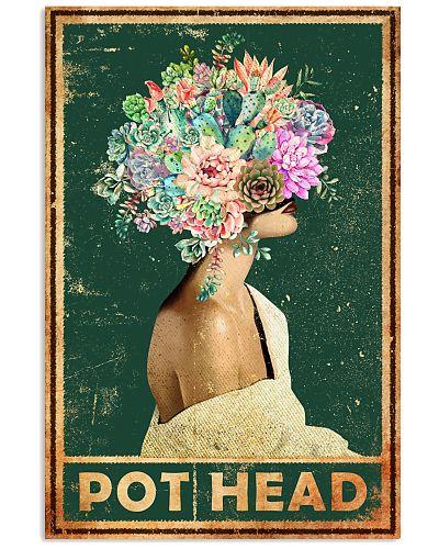 Garden Pot Head Gardening Girl Flower