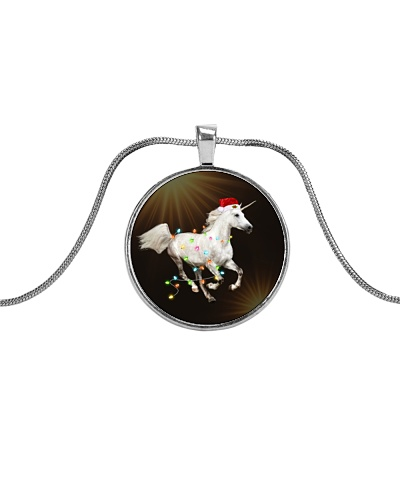 Unicorn Christmas Necklace