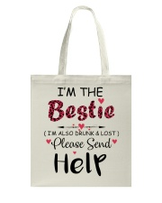 Wine I'm The Bestie Tote Bag thumbnail