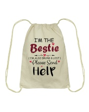 Wine I'm The Bestie Drawstring Bag thumbnail