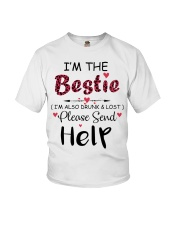 Wine I'm The Bestie Youth T-Shirt thumbnail