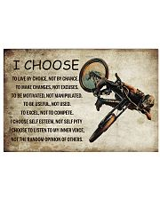 CYCLING I CHOOSE 24x16 Poster front