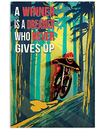 Mountain Biking Retro Poster