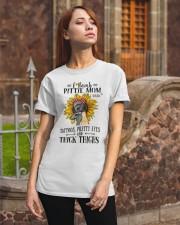 Pit Bull Mom F-Bomb Classic T-Shirt apparel-classic-tshirt-lifestyle-06