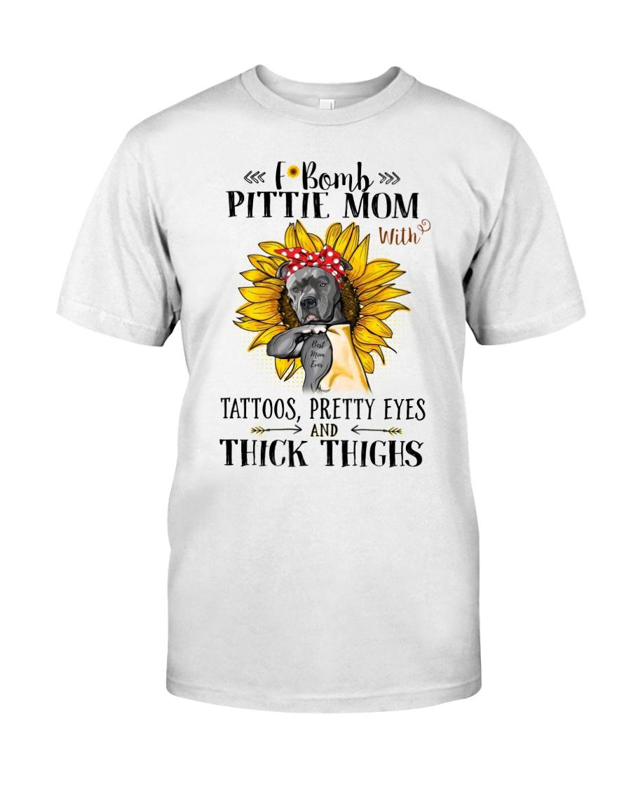 Pit Bull Mom F-Bomb Classic T-Shirt