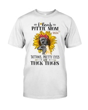 Pit Bull Mom F-Bomb Classic T-Shirt front
