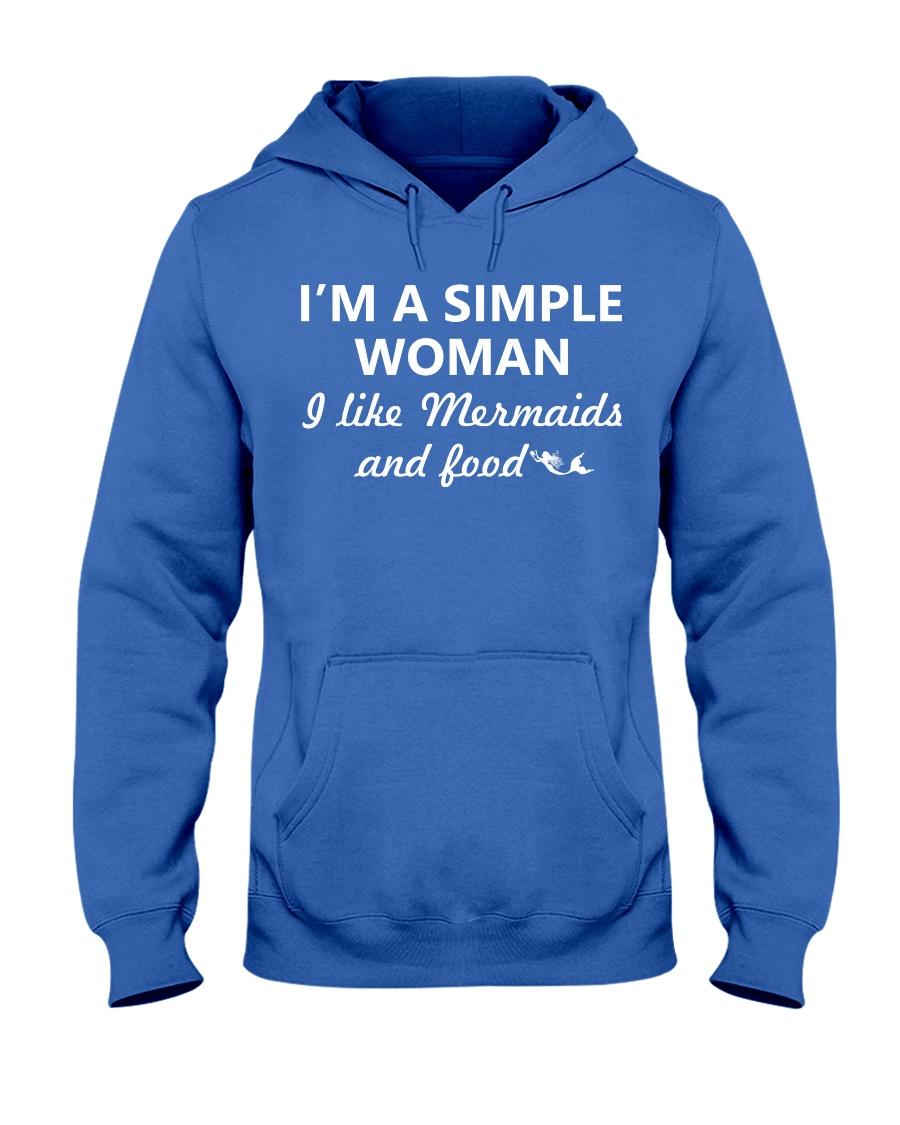I Like Mermaid and Food Hooded Sweatshirt
