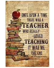 Teacher Once Upon Poster 11x17 Poster front