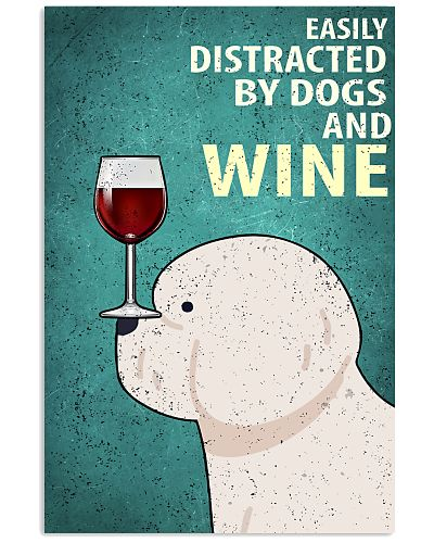 Chow Chow And Wine Vintage Poster