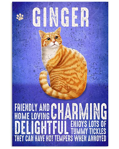 Ginger Cat Vintage Poster