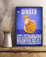 Ginger Cat Vintage Poster 11x17 Poster lifestyle-poster-3