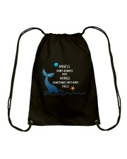 Mermaid - Sometimes They Have Tails Drawstring Bag thumbnail
