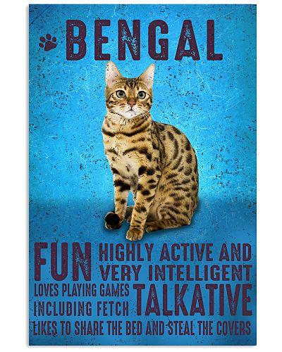 Bengal Cat Vintage Poster