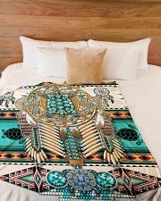 """Turtle Madala Beauty Blanket Large Fleece Blanket - 60"""" x 80"""" aos-coral-fleece-blanket-60x80-lifestyle-front-02"""