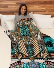 """Turtle Madala Beauty Blanket Large Fleece Blanket - 60"""" x 80"""" aos-coral-fleece-blanket-60x80-lifestyle-front-05"""