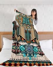 """Turtle Madala Beauty Blanket Large Fleece Blanket - 60"""" x 80"""" aos-coral-fleece-blanket-60x80-lifestyle-front-11"""