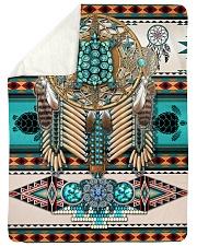 "Turtle Madala Beauty Blanket Large Sherpa Fleece Blanket - 60"" x 80"" thumbnail"