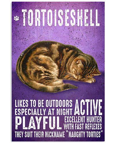 Tortoiseshell Cat Vintage Poster