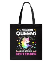 Unicorn Queens Are Born In September Tote Bag thumbnail