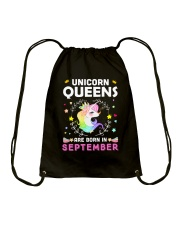 Unicorn Queens Are Born In September Drawstring Bag thumbnail
