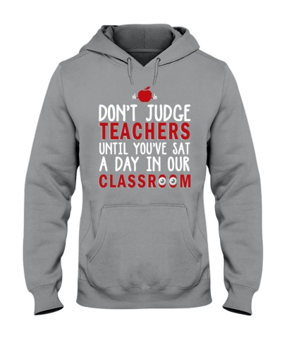 Don't judge teachers