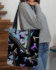 HORSE BEAUTY HORSE TOTE BAG All-over Tote aos-all-over-tote-lifestyle-front-09