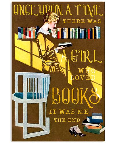 Books Once Upon Girl Reading Book Deco Art