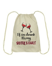 Wine Sister Fault Drawstring Bag thumbnail