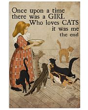 Cat Once Upon A Time Girl Loves Cats 2 Poster  11x17 Poster front