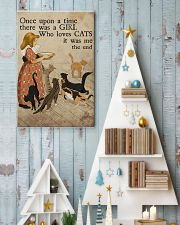 Cat Once Upon A Time Girl Loves Cats 2 Poster  11x17 Poster lifestyle-holiday-poster-2