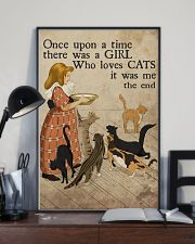 Cat Once Upon A Time Girl Loves Cats 2 Poster  11x17 Poster lifestyle-poster-2